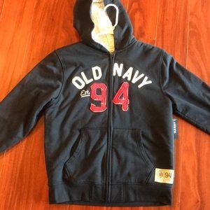 NWT Boys Sherpa Old Navy hoodie